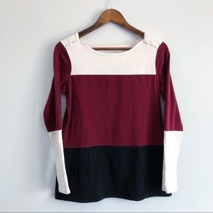 Contemporaine Simons Tri-Color Long Sleeve